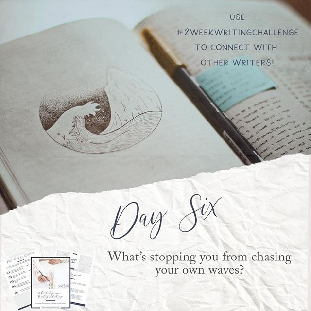 Day 6 can be a tough one but remember a few rules about the page:⠀ 1. It doesn't judge. You can be as honest and candid as you want in these exercises because YOU get to decide if you ever share it. So give it your best shot.⠀ 2. If your writing starts to trigger negative emotions, it's okay to switch to a different topic. It's even okay to stop (but try really hard to keep with it, what's important is learning to work through these emotions as you write). ⠀ 3. Dream big! This exercise is designed to bring out your dreams just as much as it is about acknowledging your fears. #2weekwritingchallenge⠀ • • •⠀ As these exercises get longer in time and word count, I will be updating a page on my website with all my submissions - so check my website :)