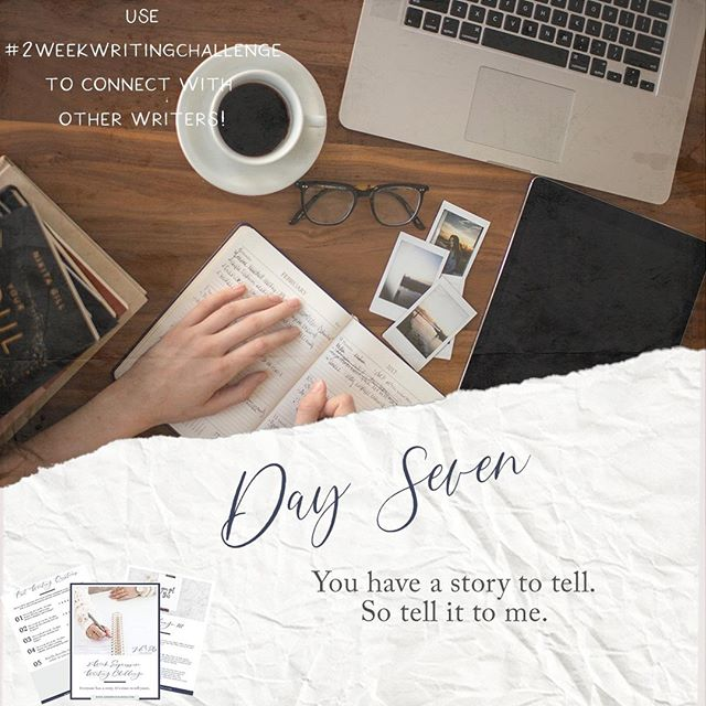 It's Day 7 - you're halfway through! How's it going? This is one of my favorite exercises because so often, the narrative of our lives is constructed by others. This exercise helps you rewrite/reframe/retell the narrative of your life in YOUR words. #2weekwritingchallenge⠀ • • •⠀ See my submission on my website page!