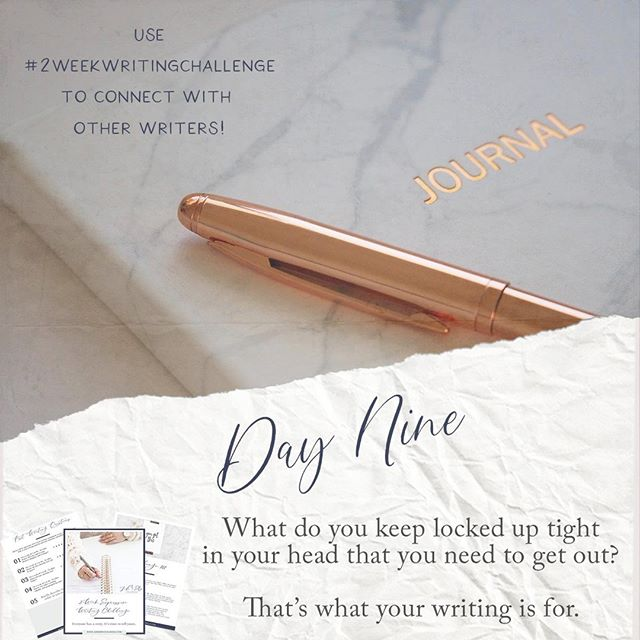 Day 9! The best part about expressive writing and journaling? You can tell the page whatever the hell you want. Go ahead... try it! #2weekwritingchallenge⠀ • • •⠀ Submission will be up on my website!