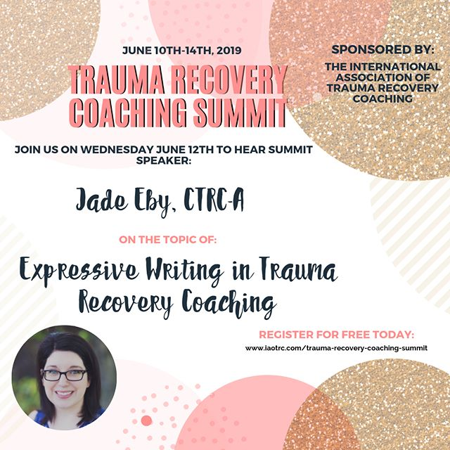 Join me for my @iaotrc summit interview on Expressive Writing in Trauma Recovery Coaching! Sign up for free - link in bio! #traumarecovery #traumarecoverycoaching