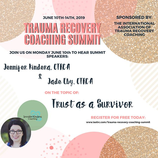 Join me and @jenniferkindera for our @iaotrc summit interview on Trust as a Survivor! Sign up for free - link in bio! #traumarecovery #traumarecoverycoaching