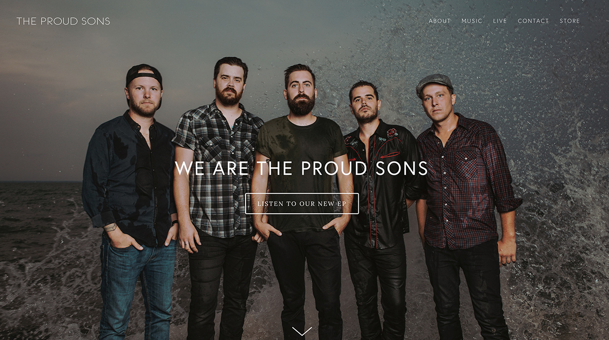 WEBSITE BUILD - THE PROUD SONS