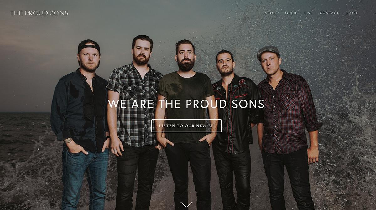 WEBSITE BUILD - THE PROUD SONS