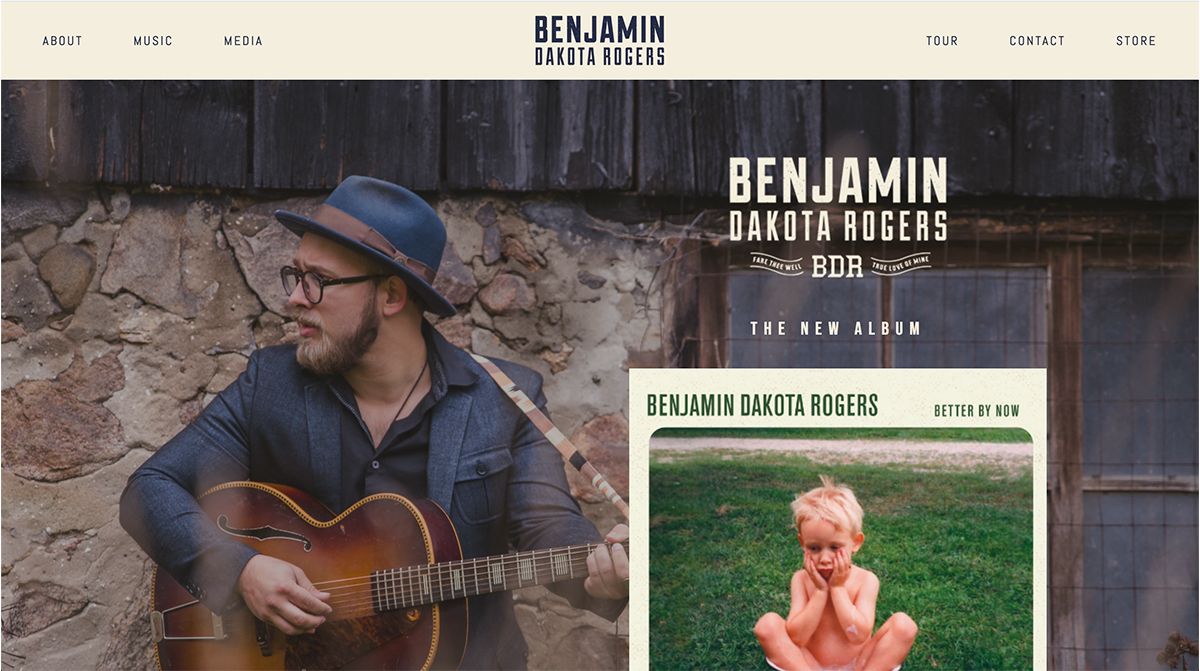 WEBSITE FACELIFT - BENJAMIN DAKOTA ROGERS
