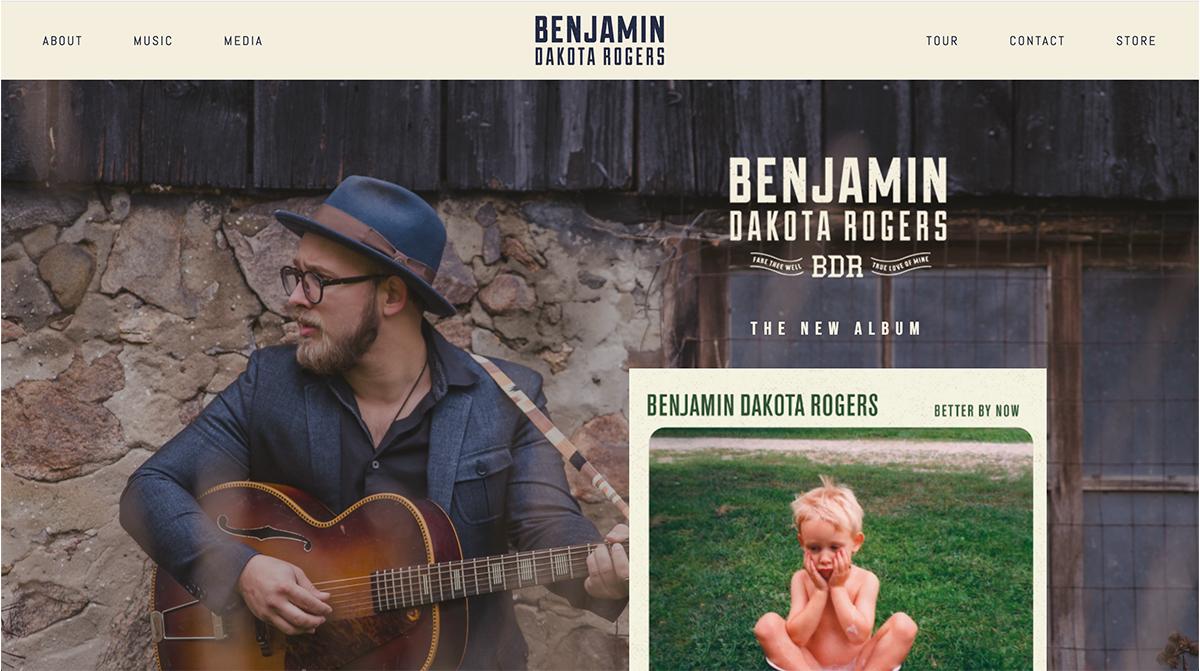WEBSITE FACELIFT - BENJAMIN DAKOTA ROGERS