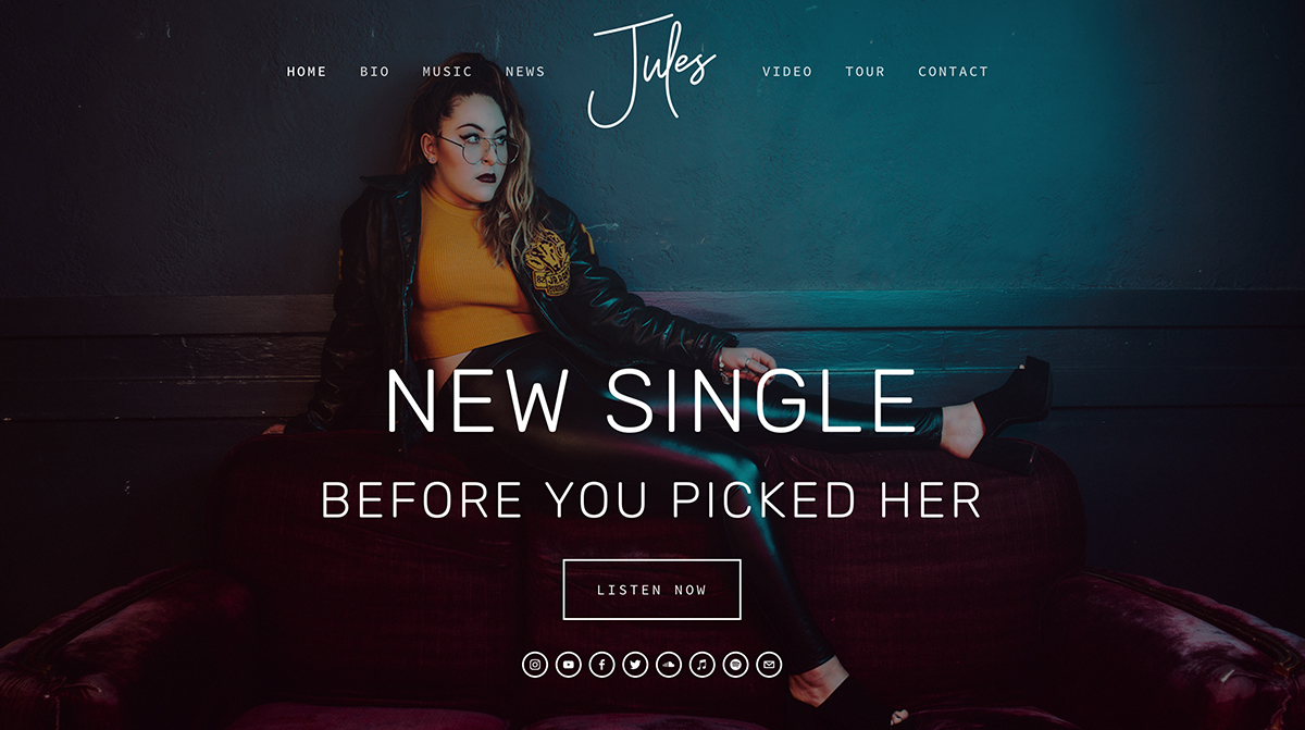 WEBSITE BUILD - JULES