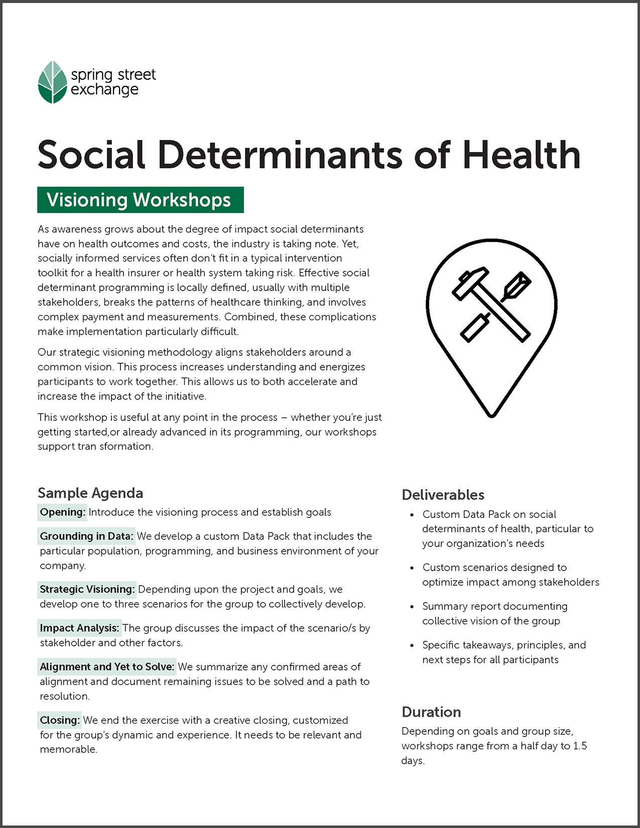 Flyer // Visioning Workshops: Social Determinants of Health