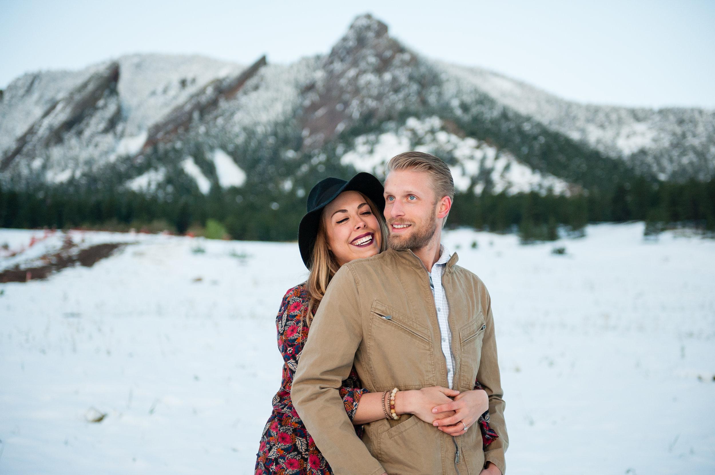 Boulder Colorado Winter Elopement Photographer