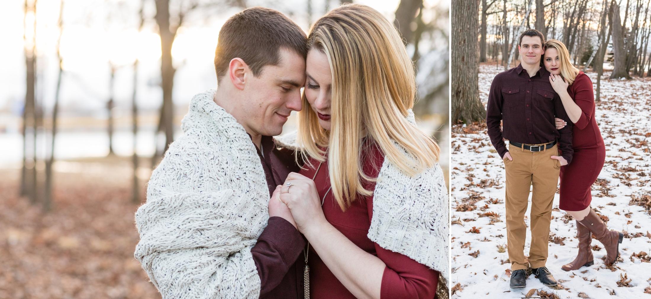 Wisconsin Winter Engagement Session,  Green Isle Park | KLEM Studios, Wedding + Boudoir Photographer