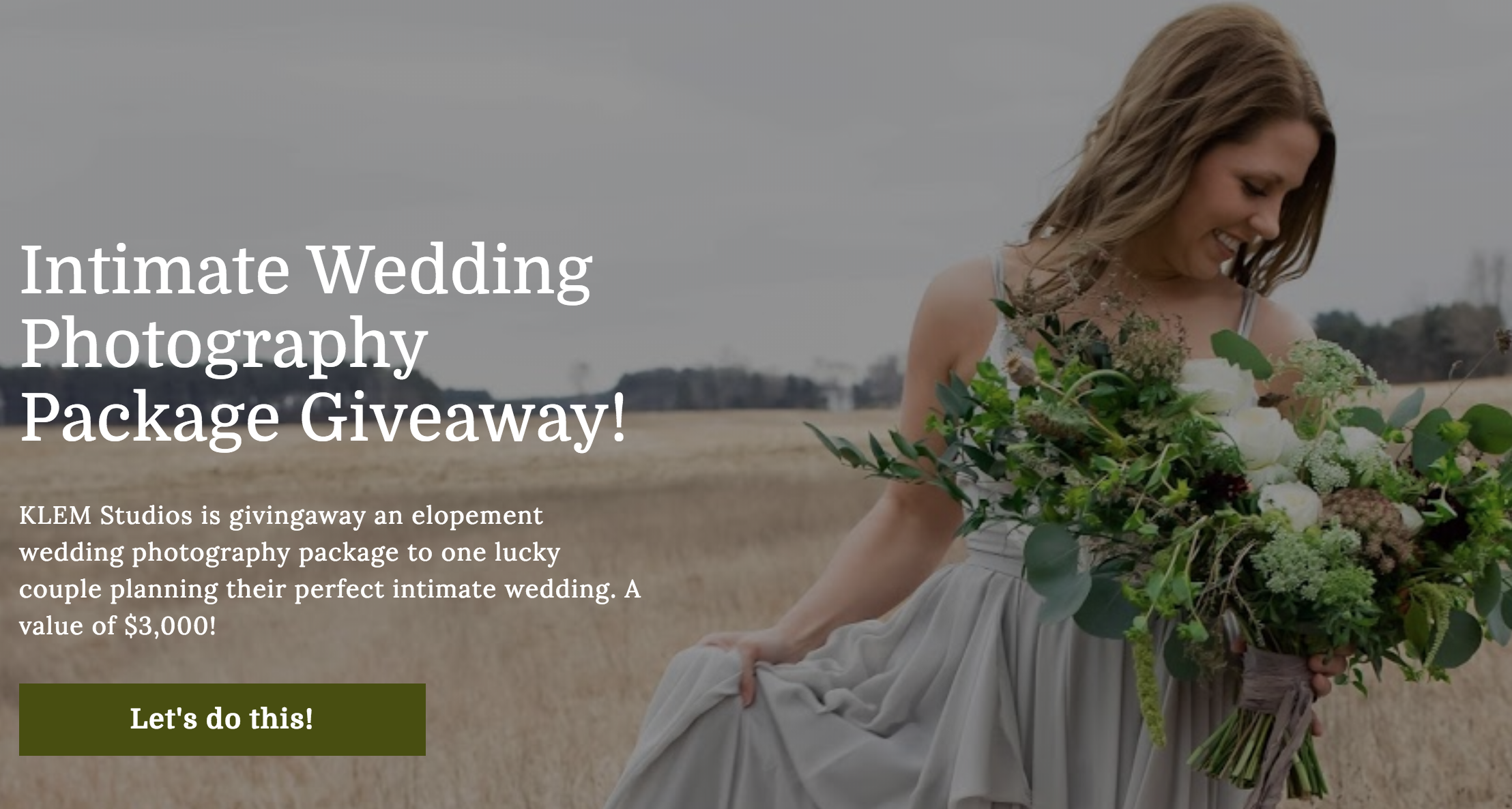 We're giving away an Elopement Package to one lucky couple! Join my Facebook group for details!