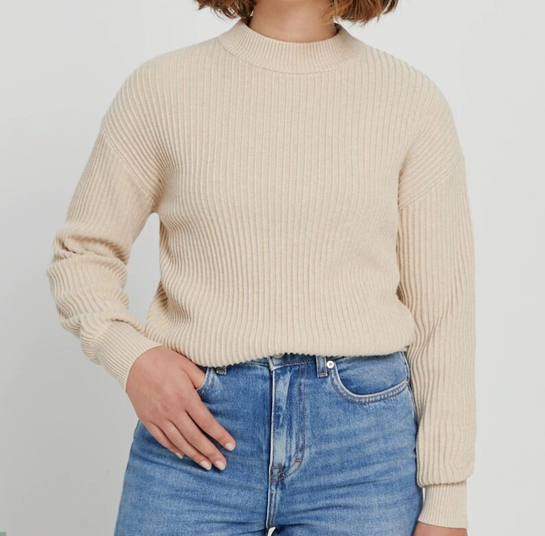 Oversized Cropped Sweater - C$89.50