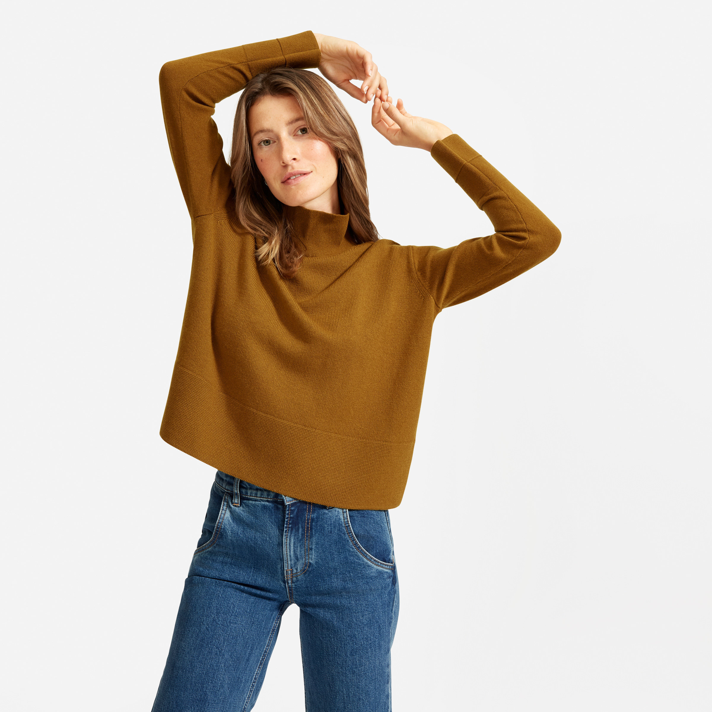 The Cashmere Square Turtleneck — $165