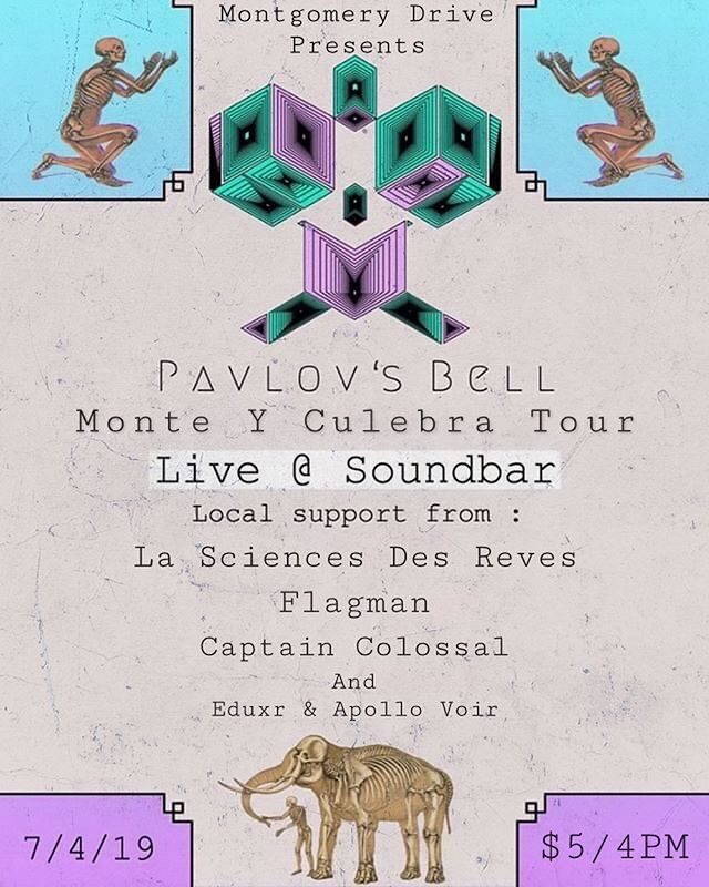 Playing today at @soundbar.orl, doors open at 4pm/$5. Put together by the awesome @montgomerydrive. Playing with @pavlovs_bell, @flagmanband, @captaincolossal, and @eduxrrr & @apollovoir