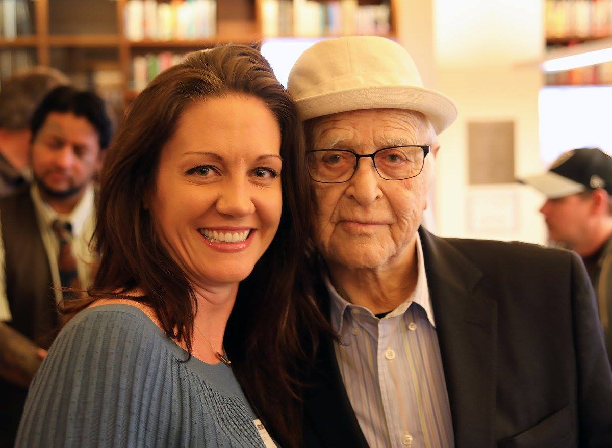 US Air Force Veteran Melissa Ritz and legendary writer Norman Lear in November 2016.
