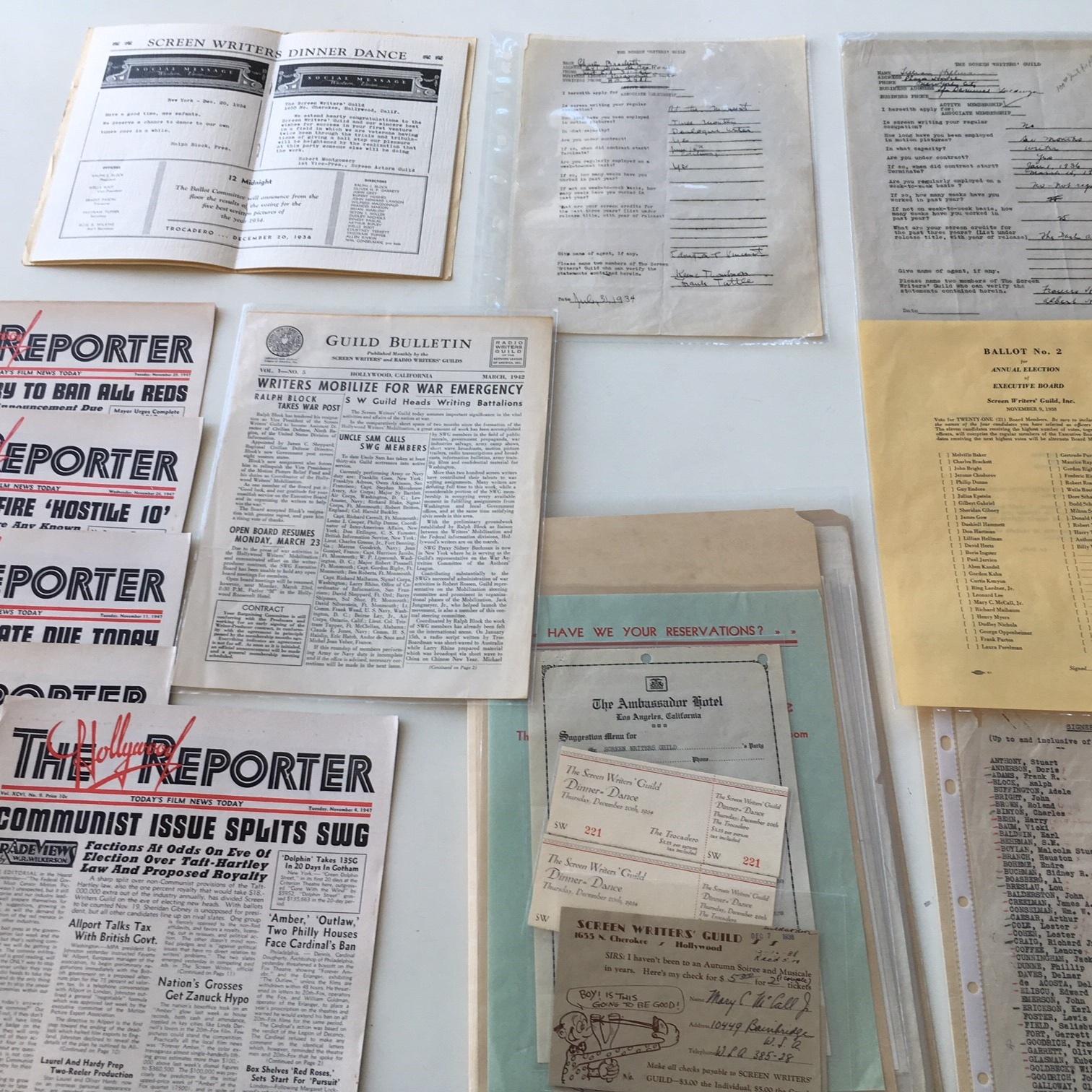 Various archival materials.