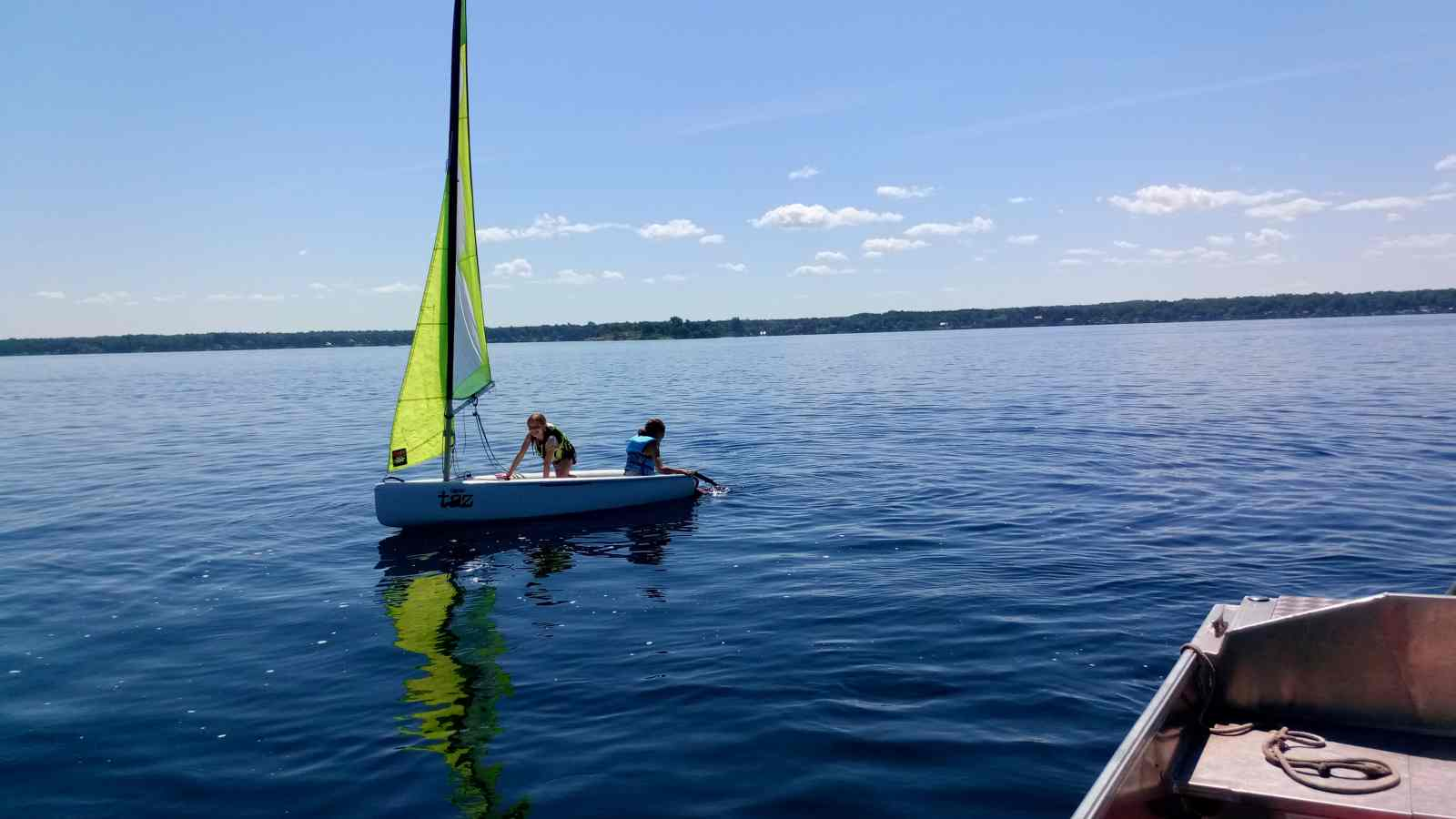 Brockville Yacht Club Sailing School topper taz introduction boat fun.jpg
