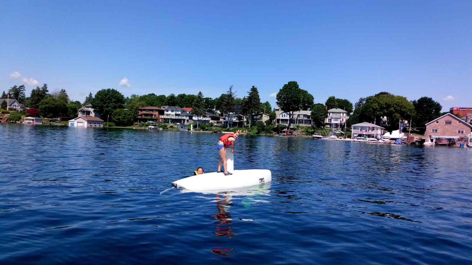 Brockville Yacht Club Sailing School turtled sailboat fun dumpday.jpg