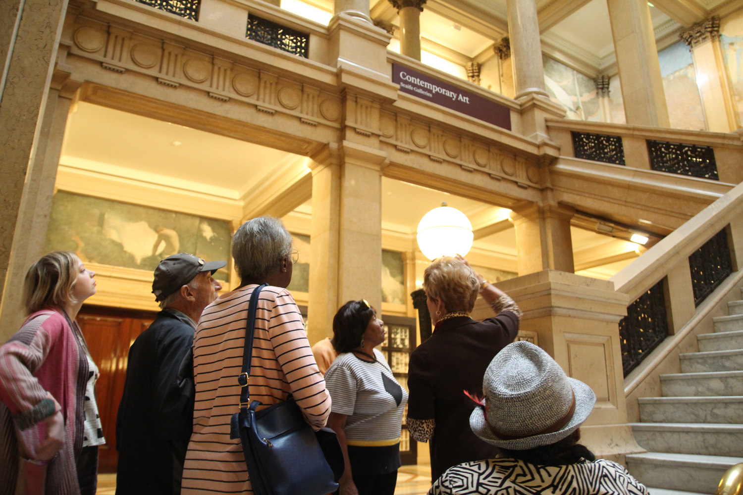 Alice taking us through the Grand Staircase.