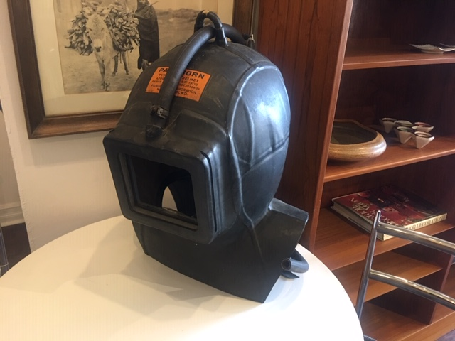 """""""Jules Verne"""" Style Vintage Rubber Industrial Protection Mask (As Lamp)   $125"""