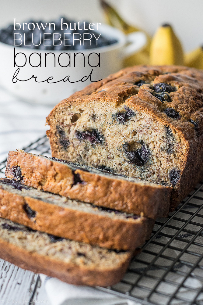 Brown Butter Blueberry Banana Bread