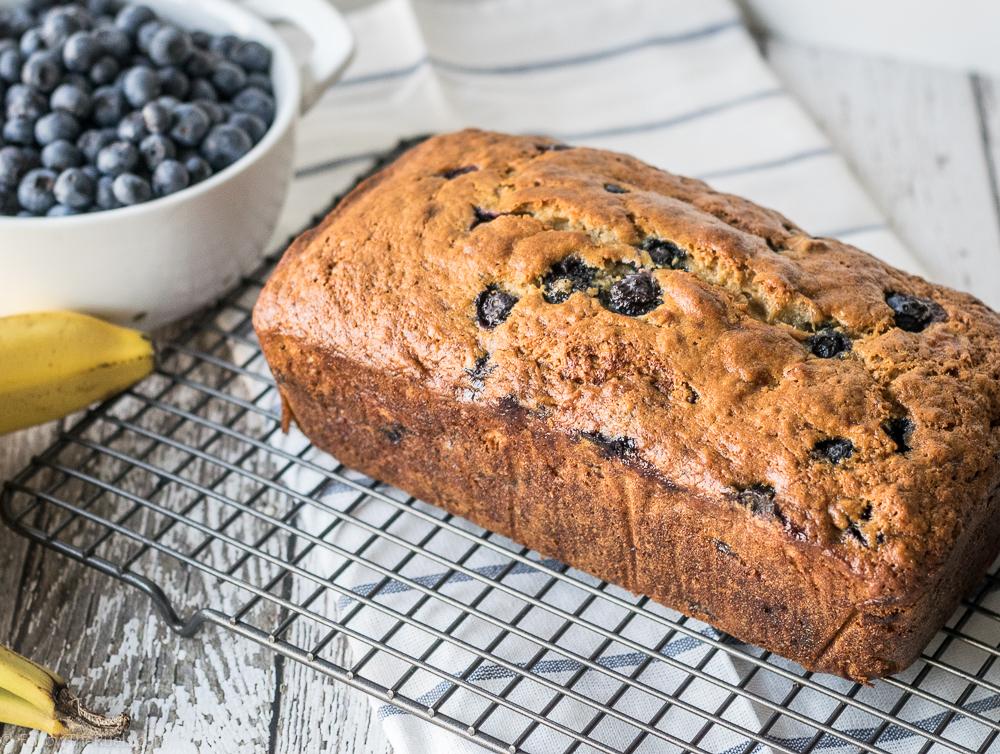 Blueberry Banana Bread Loaf