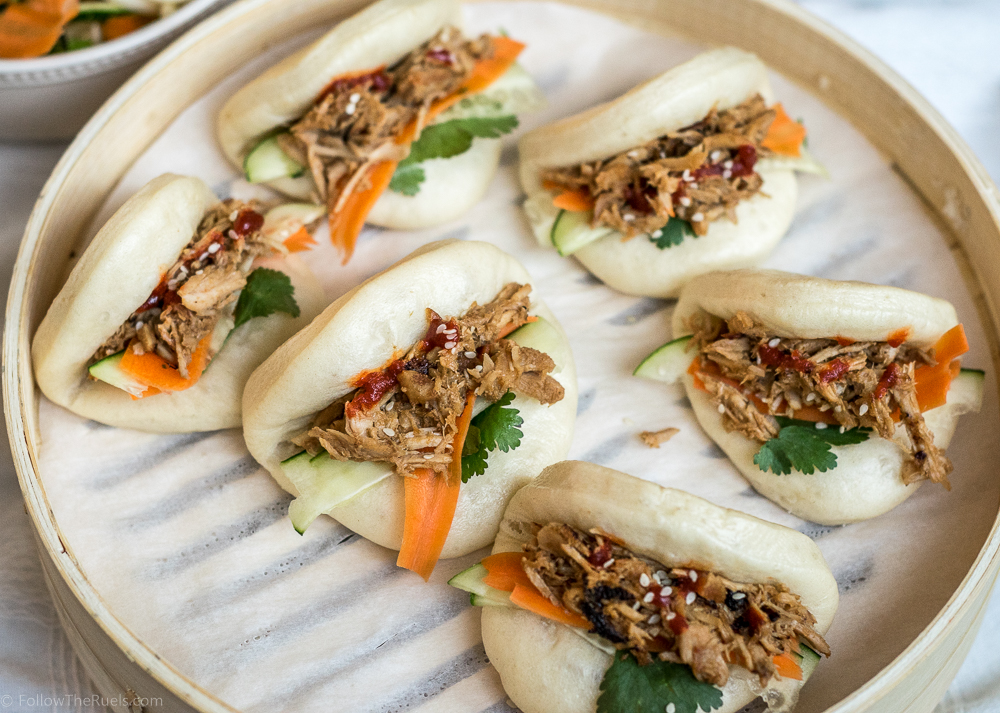 Chinese Pulled Pork Steamed Buns - (Bao Buns)