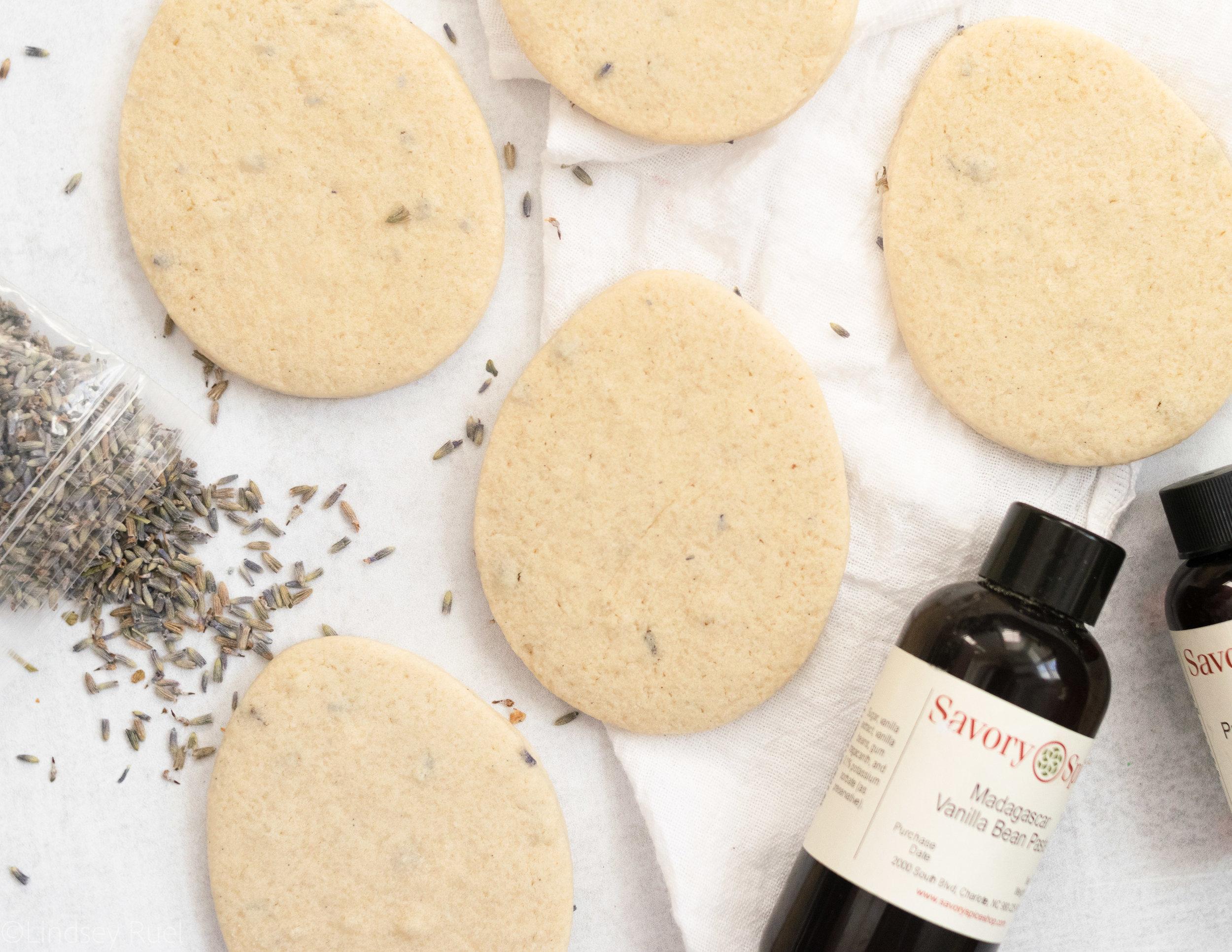 Lavender Vanilla Bean Cookies