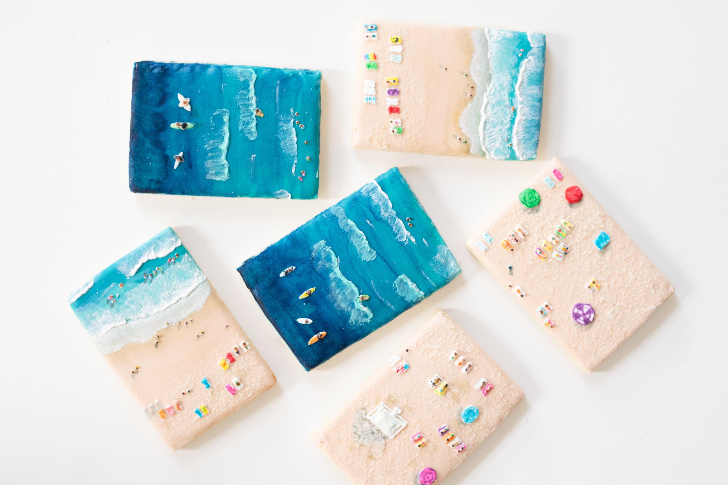 Aerial Beach Cookie Set