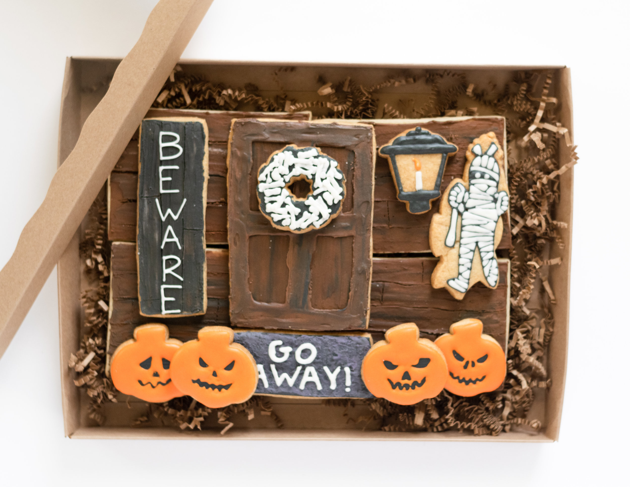 Haunted House Porch Cookie Platter