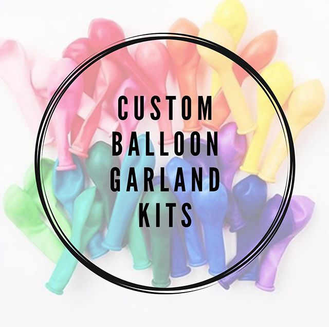 Alright friends!  Custom 🎈Balloon Garland Kits 🎈available to order!  Head to the link in @balloonbar.dsm bio to get yours!  DIY lovers- have all the FUN and save all the dollars 💵