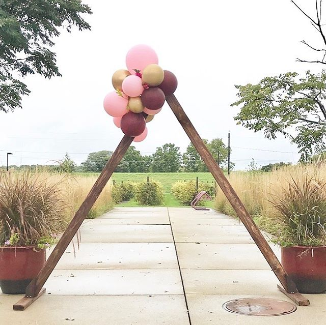 Need a beautiful backdrop for your ceremony? I've got you covered with this A-Frame altar!  Link in bio for inquiry