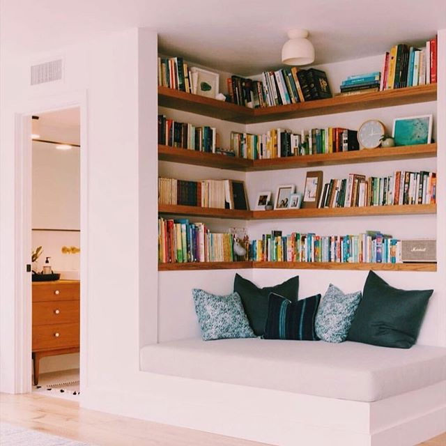 Currently daydreaming of reading nooks we would like to be in. 📖✨ • • Photo repost from @anewdorm . (📸: @alisonbernier)