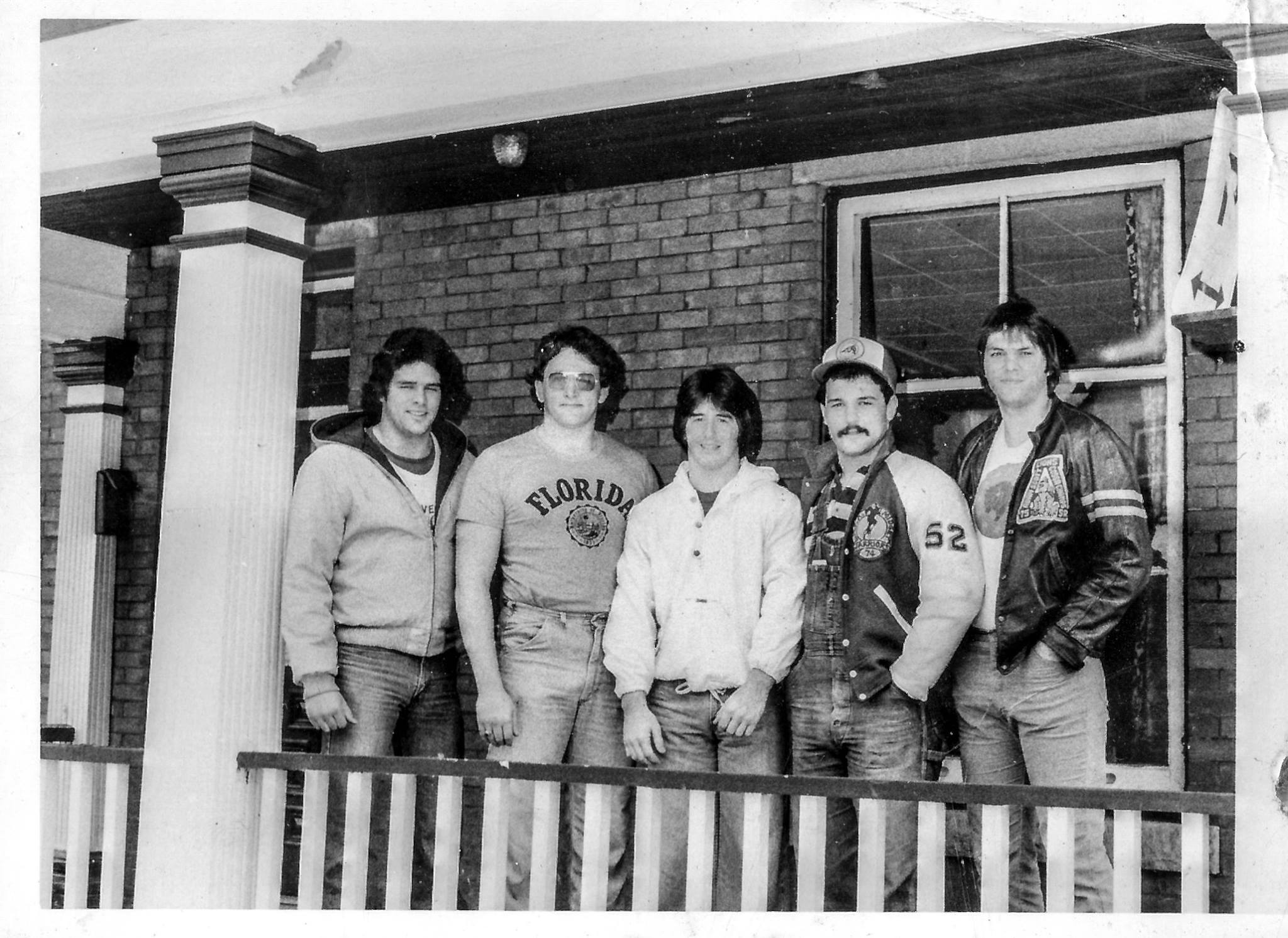 656 King Edward Avenue 1979 - the Football House - Doug Brown, John Hennessy, Rob Tallyhoe, Guilo Pettrilli, Paul Lacey