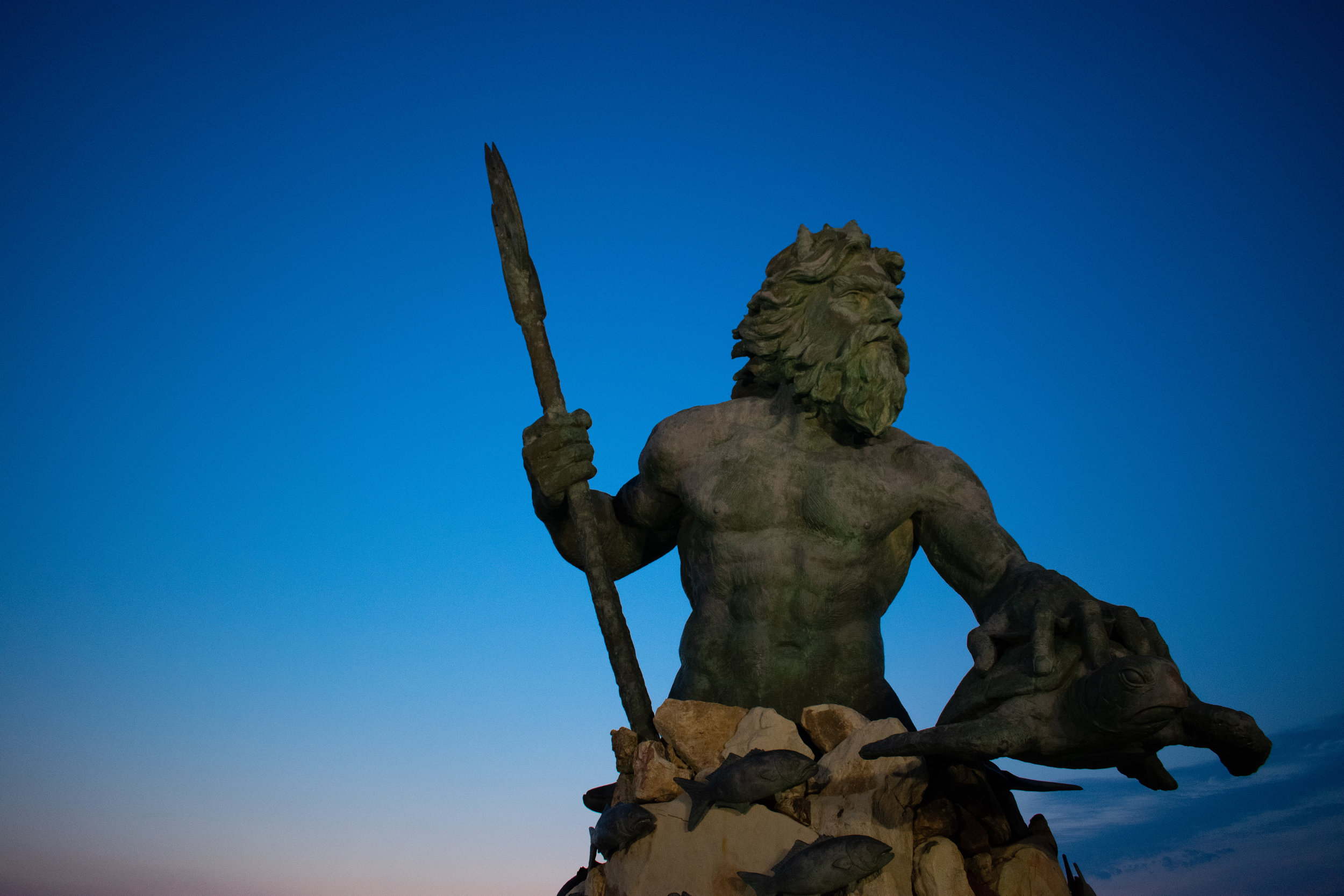 King Neptune Statue at 31st Street boardwalk Virginia Beach, VA