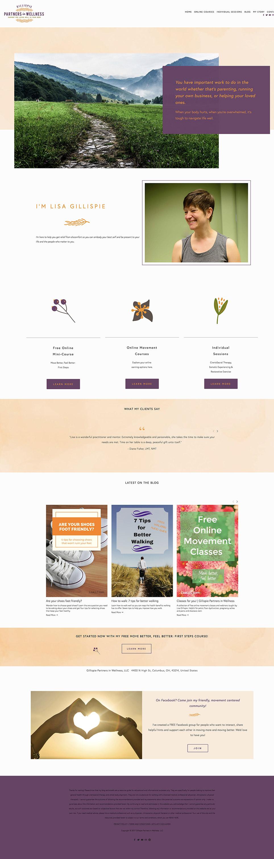 Gillispie Partners home page website design   Squarespace website fixer upper by Jodi Neufeld Design
