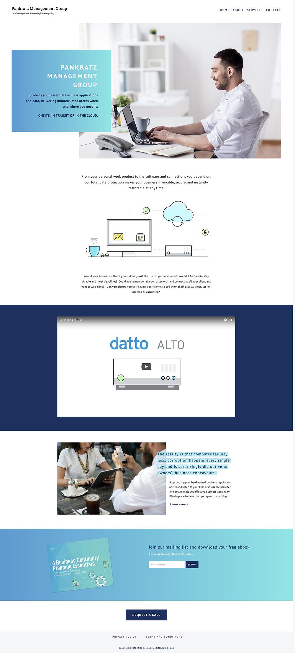 Pankratz Management Group home page design | Squarespace web design by Jodi Neufeld Design