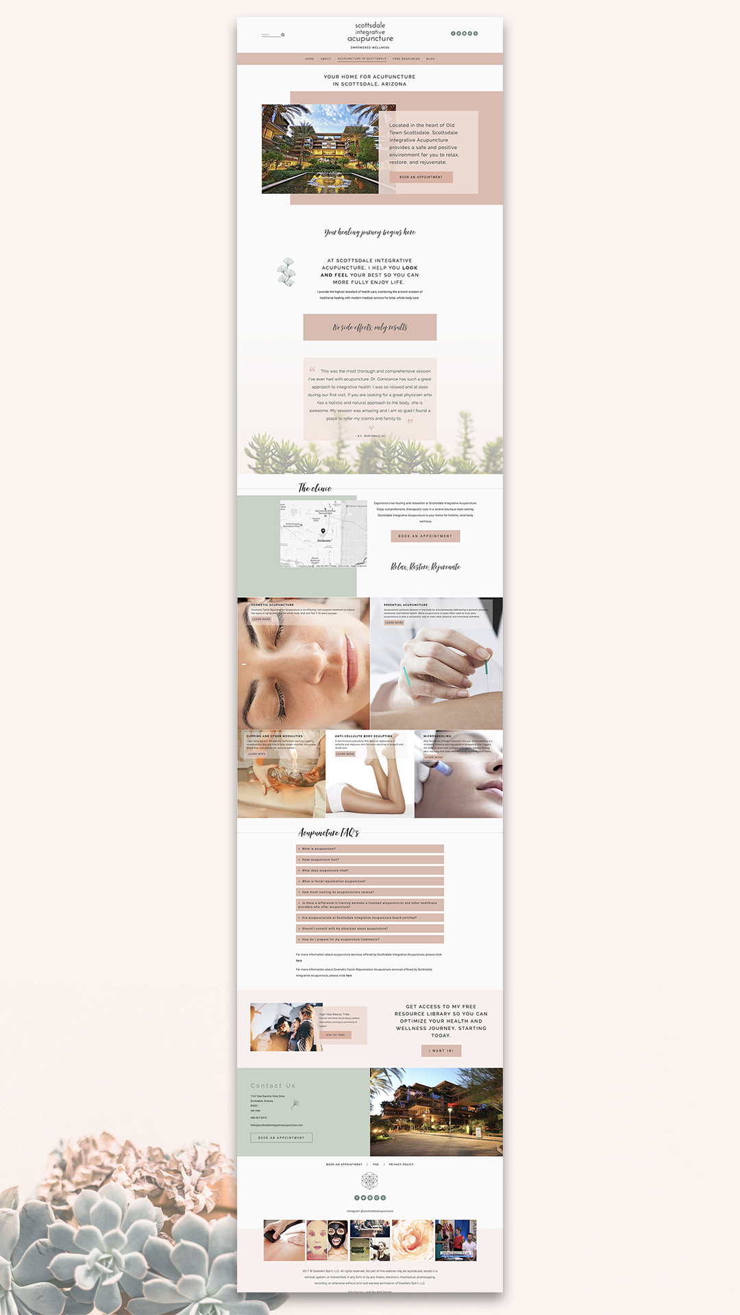 Scottsdale Integrative Acupuncture Services page | Squarespace web design by Jodi Neufeld Design