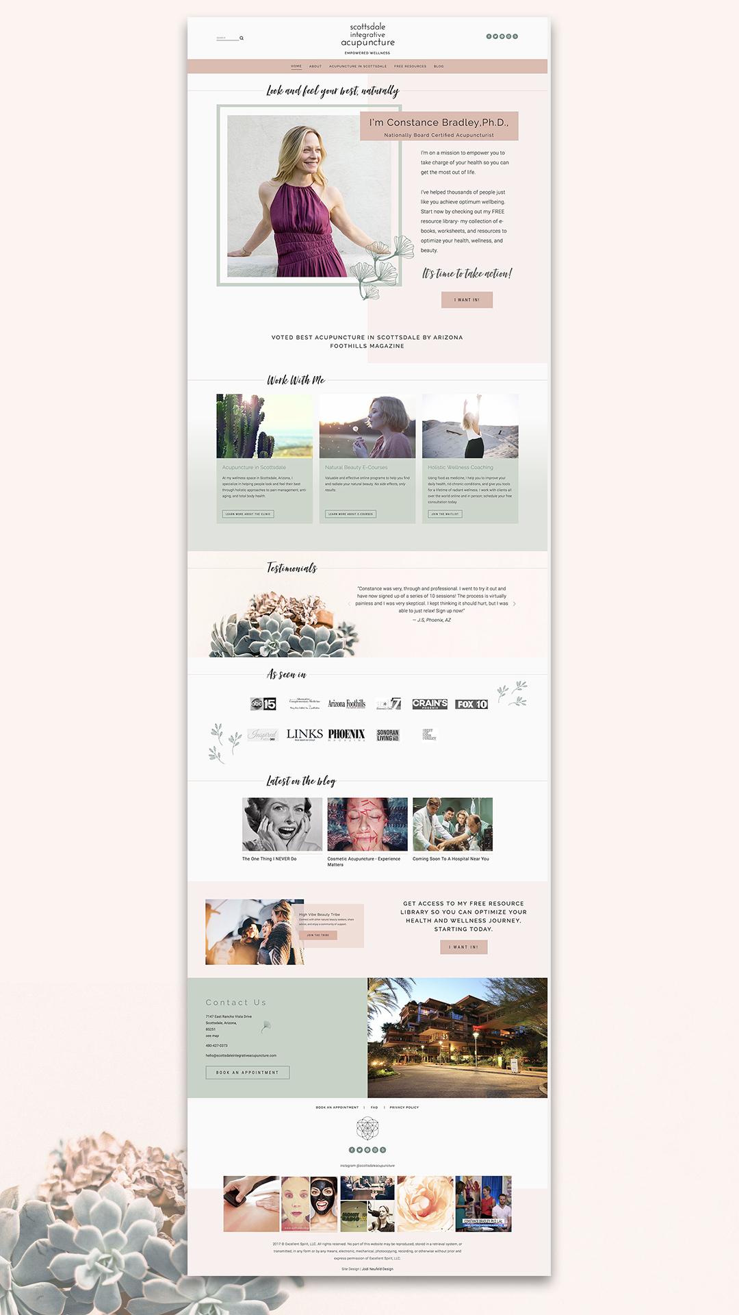 Scottsdale Integrative Acupuncture Home page | Squarespace web design by Jodi Neufeld Design