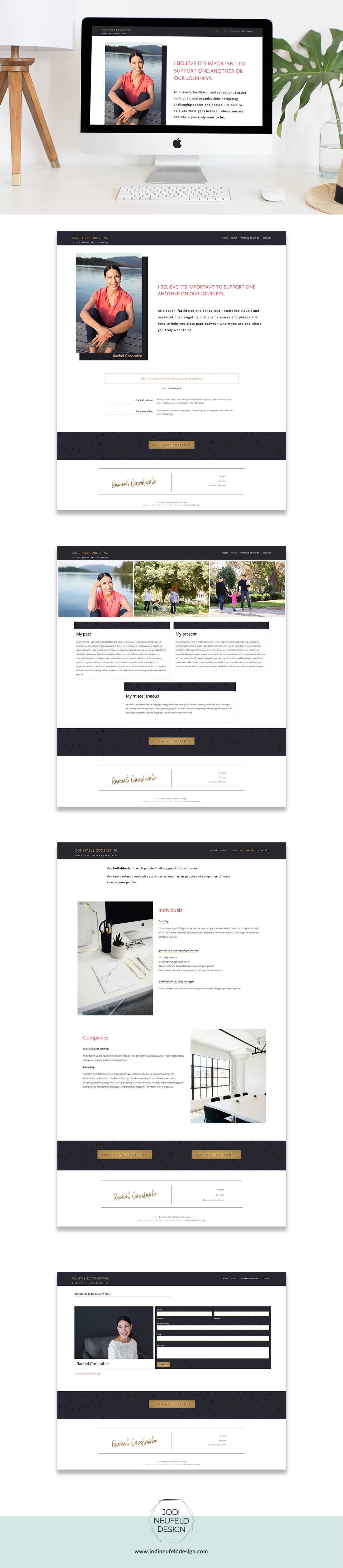 Constable Consulting   Squarespace Web Design by Jodi Neufeld Design