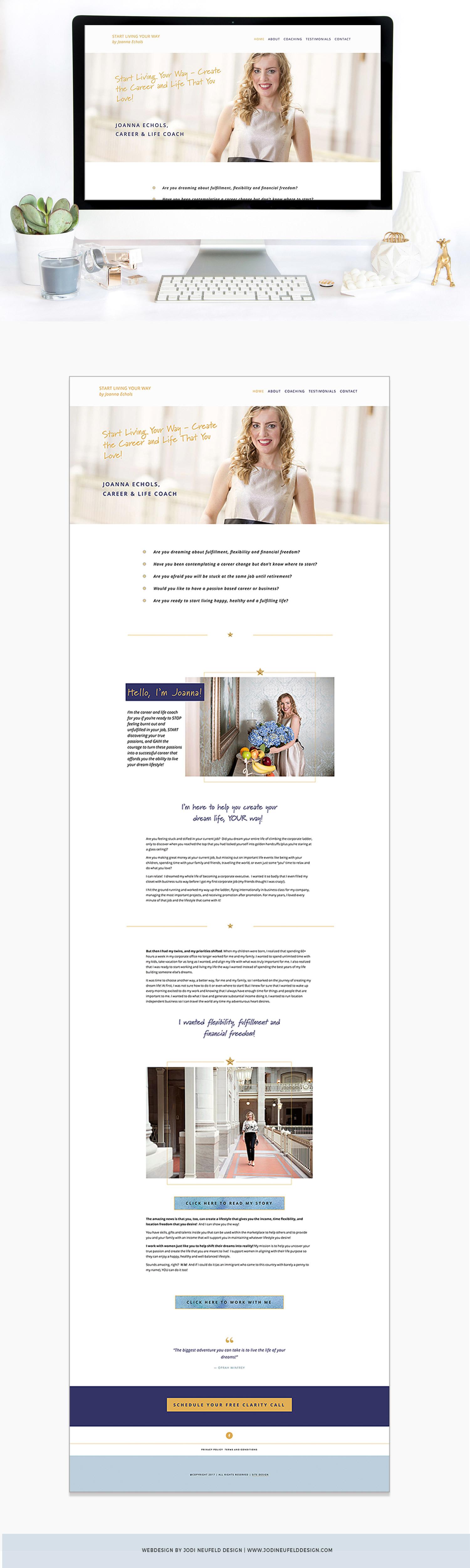 Joanna Echols Squarespace Web design | Jodi Neufeld Design