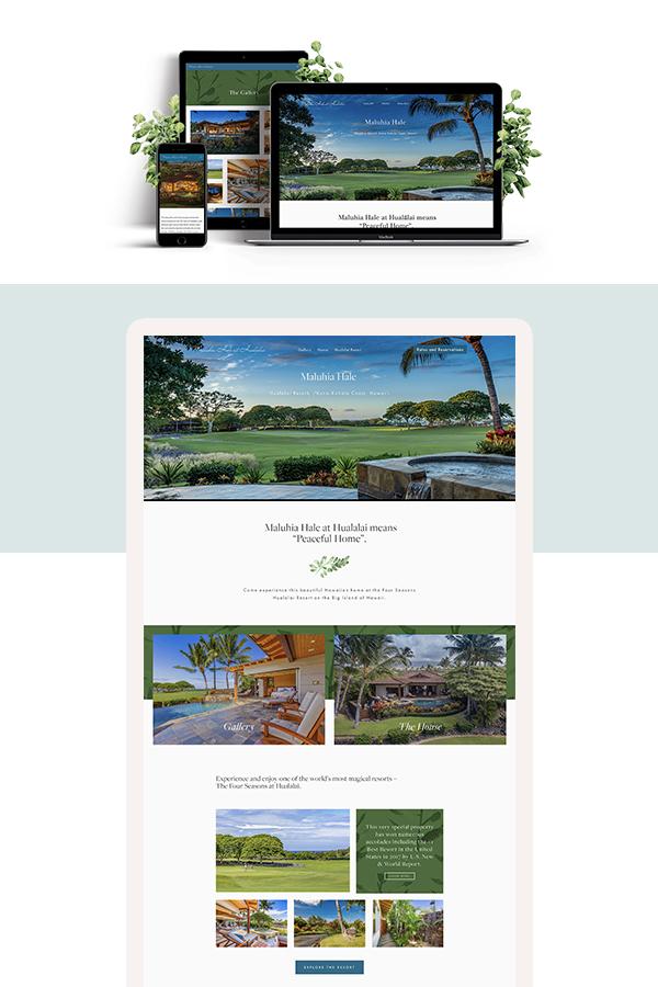 Maluhia Hale Squarespace website design by Jodi Neufeld Design