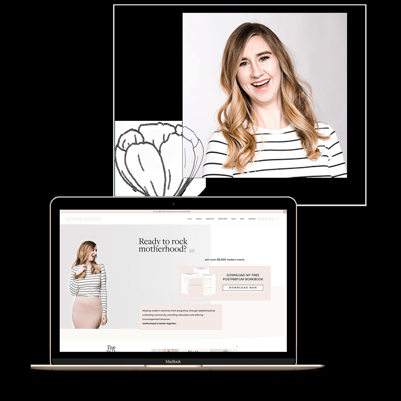 Mandy Roberson testimonial | Momma Society | web design by Jodi Neufeld design