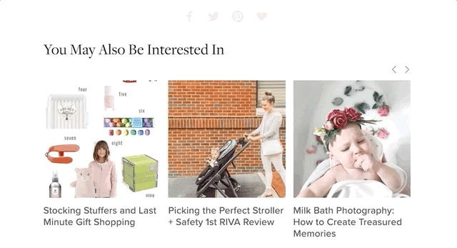 Example of automatic related posts in Squarespace