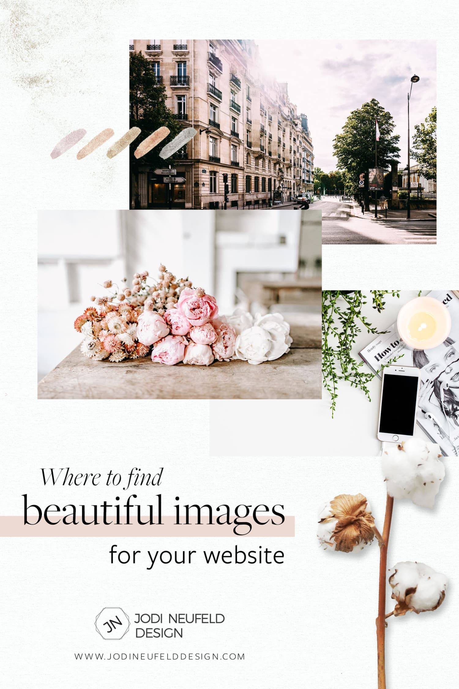 Where to find beautiful images for your website by Jodi Neufeld Design #squarespace #webdesign