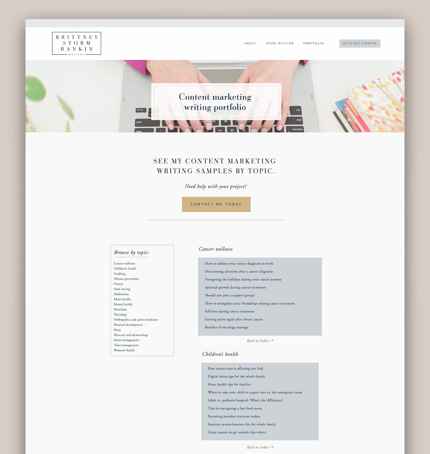 Partial Portfolio page _ Brittney Storm Rankin Writing _ webdesign by Jodi Neufeld Design.jpg