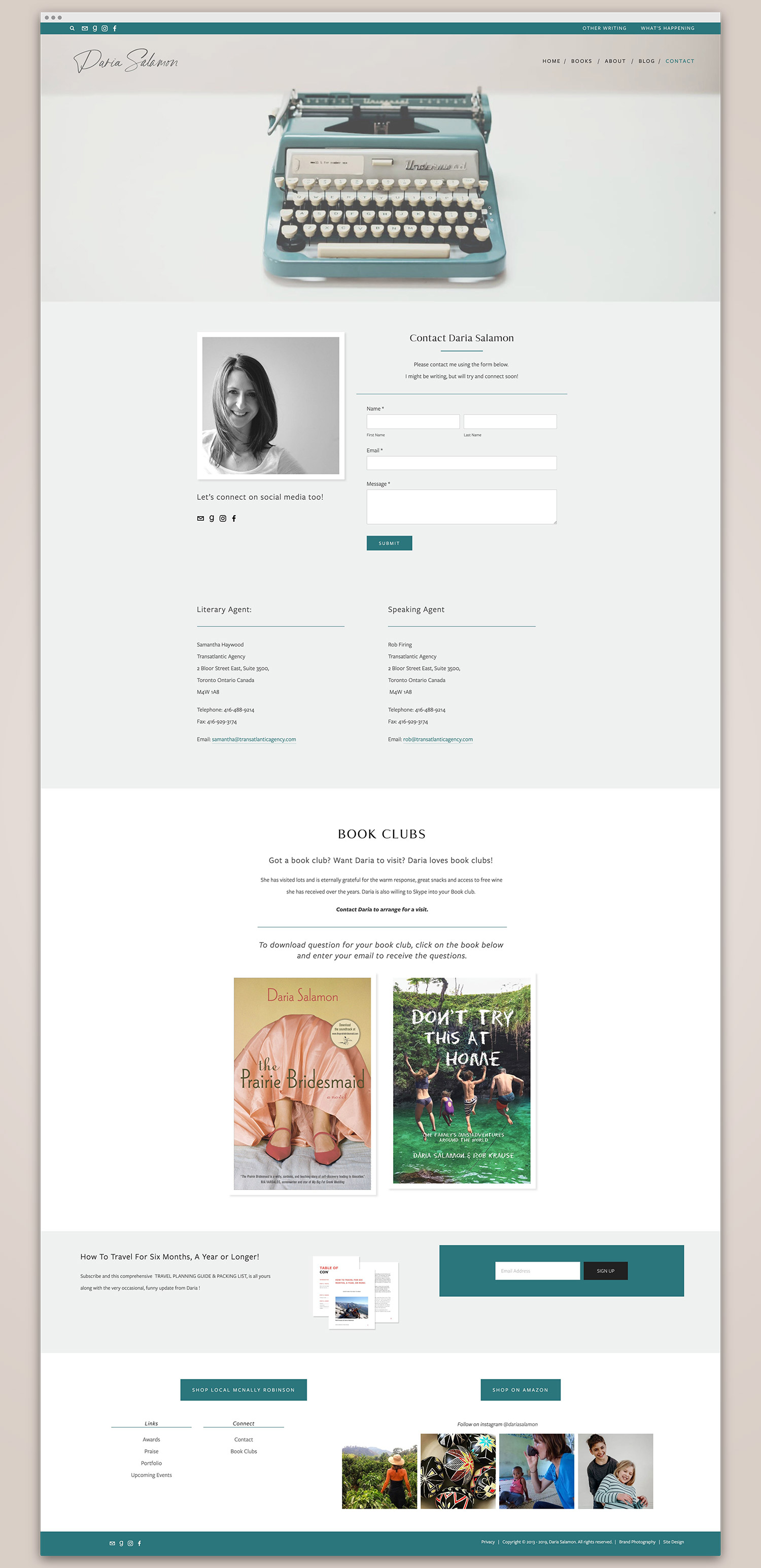 About page for a freelance writer | website design by Jodi Neufeld Design