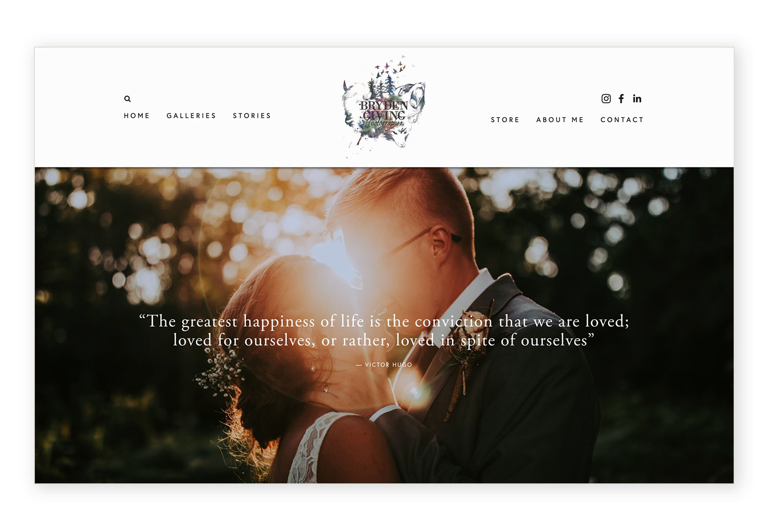 headers in Brine family - Bryden Giving Photo banner | how to set up your navigation area on the Brine Squarespace template