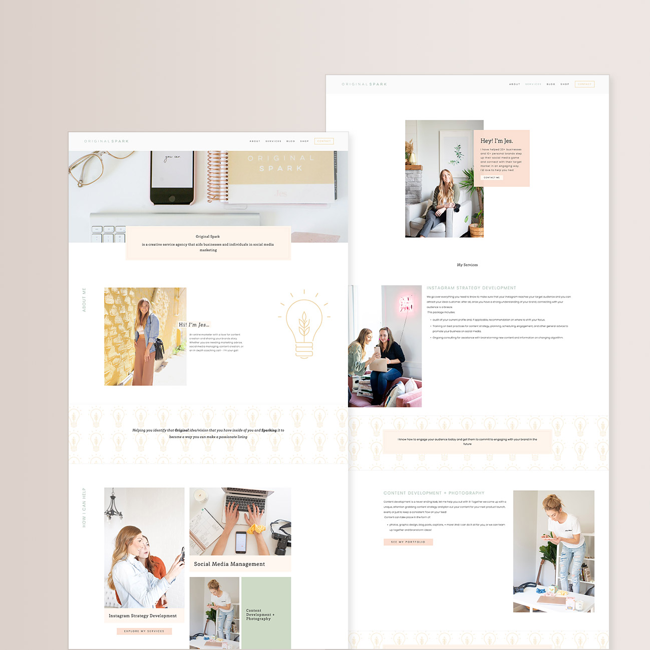 Squarespace redesign by Jodi Neufeld Design