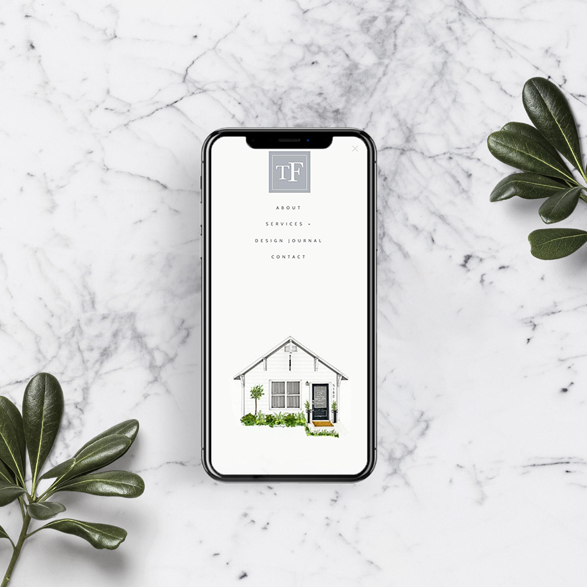 custom mobile menu | by Squarespace web designer Jodi Neufeld Design