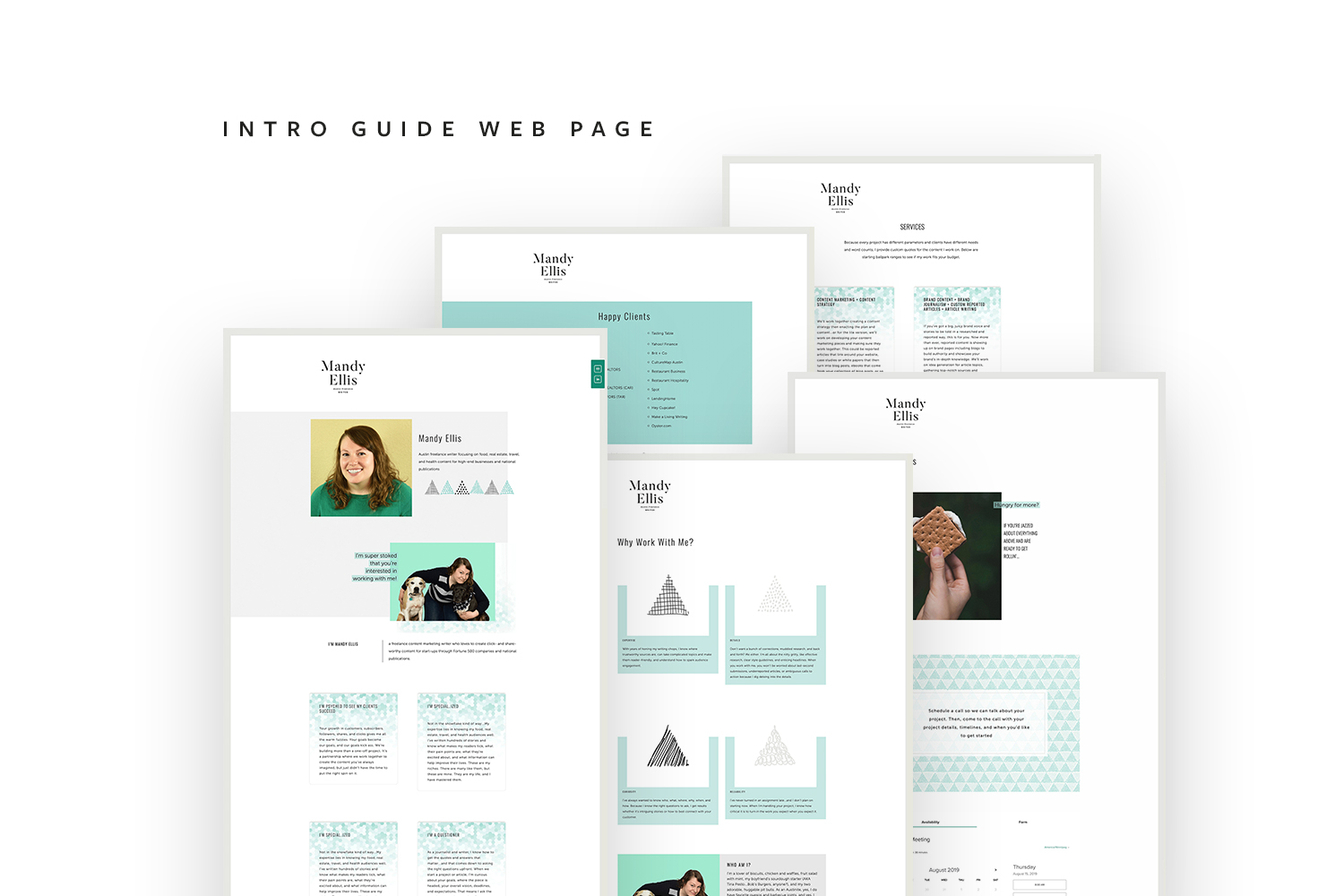 Intro Guide or Welcome package web page | #squarespace #webdesign by Jodi Neufeld Design
